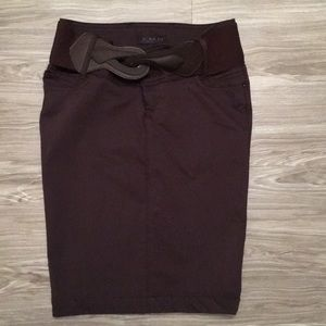 A.M.N skirt pencil size 27(S) brown with belt